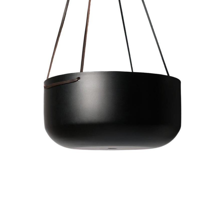 Hanging Planter Black Large by Lightly Design