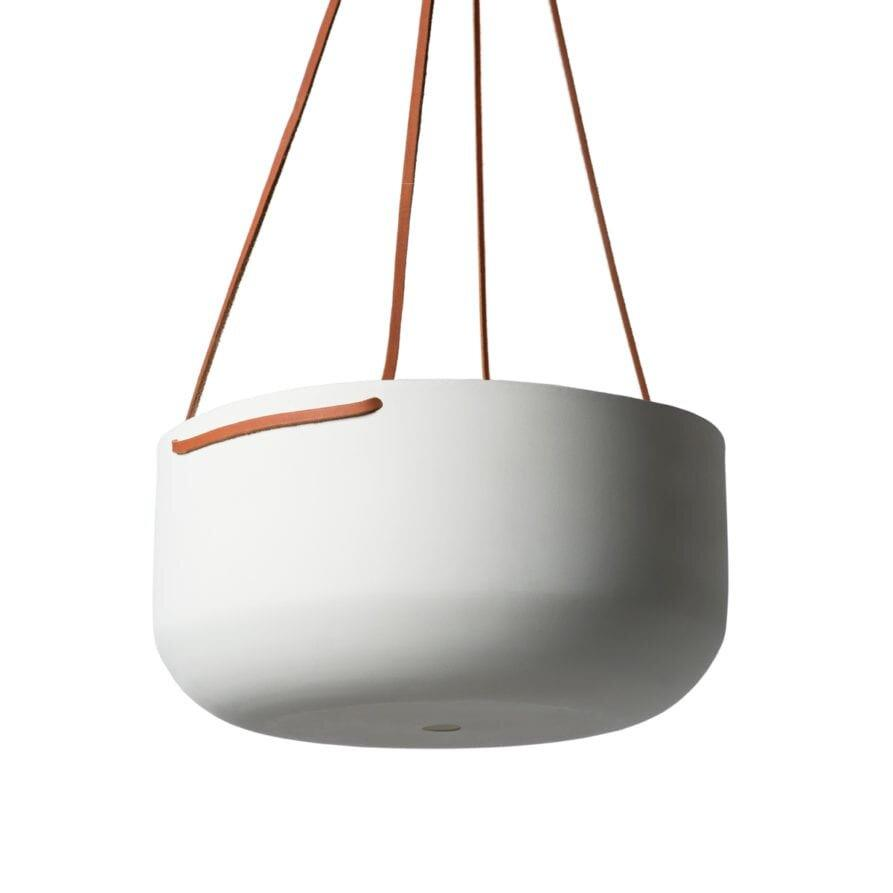 Hanging Planter White Large by Lightly Design