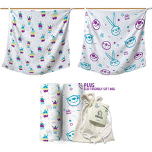Load image into Gallery viewer, Baby Muslin Blankets - 100% cotton - Premium Edition