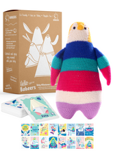 Load image into Gallery viewer, Poty The Arctic Penguin - Baby Milestone Cards with Organic Toy