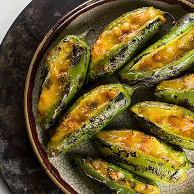 Shrimp Hatch Chile Jalapeno Poppers
