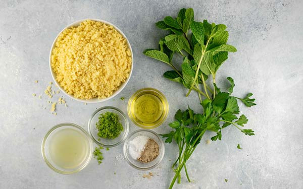 Lime, Parsley and Mint Couscous