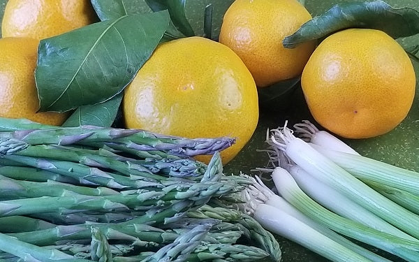 Roasted Asparagus and Tangerines