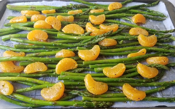 Spread in an even layer on baking sheet, then hand off to supervising adult for oven roasting.