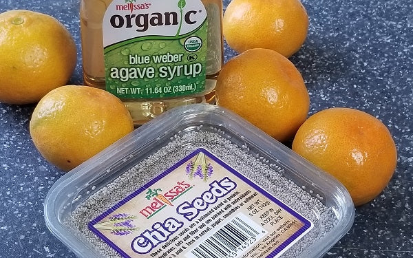 Chia Pudding with Poached Tangerines