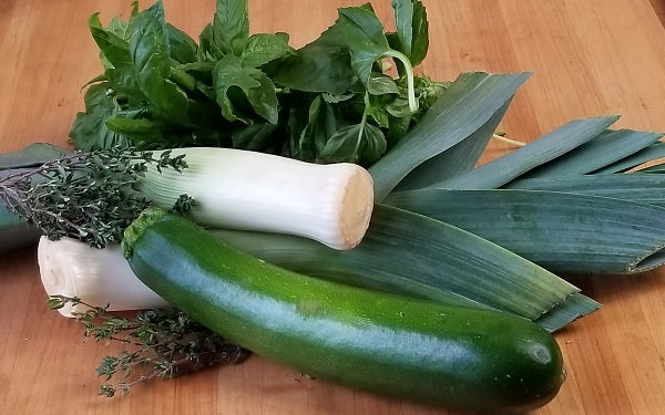 Ingredients for Zucchini & Gruyere Frittata Squares