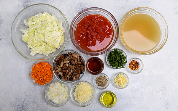 Ingredients for Italian Vegetable Soup with Fennel and White Beans