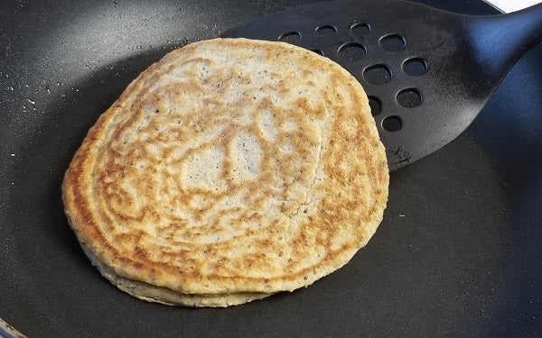 Heat skillet over medium heat. Once warmed, spray with non-stick cooking spray.