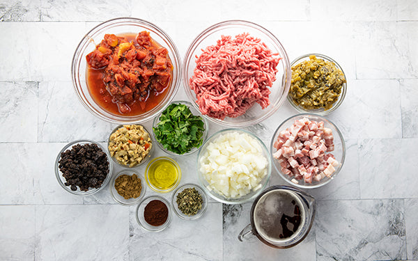 Ingredients for Picadillo