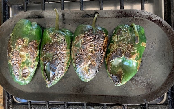 Image of roasting peppers