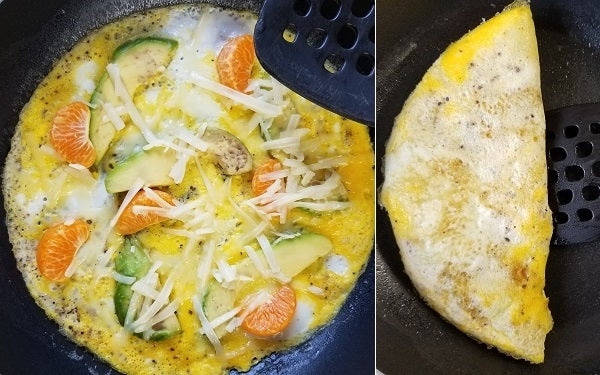 Image of Omelet cooking