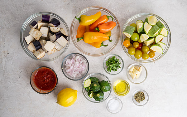 Image of Ingredients for Grilled Ratatouille