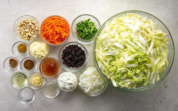 Ingredients for Curried Cole Slaw
