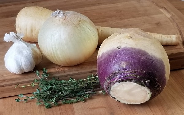 Ingredients for Rutabaga-Parsnip Mash Casserole