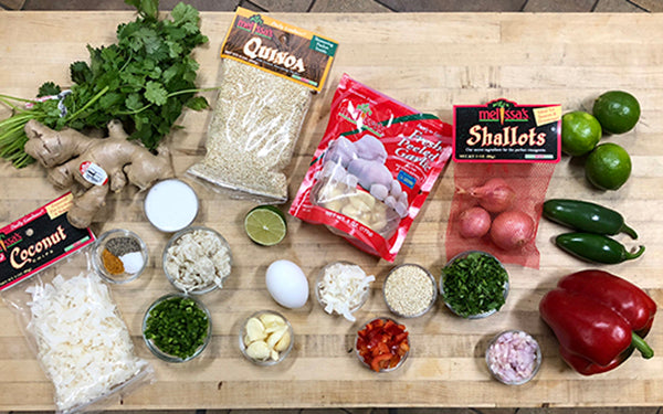 Ingredients for Asian Crab Cakes