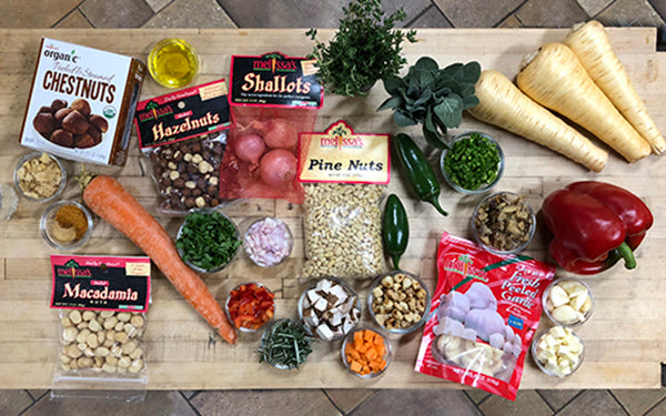 Ingredients for Savory Holiday Loaf