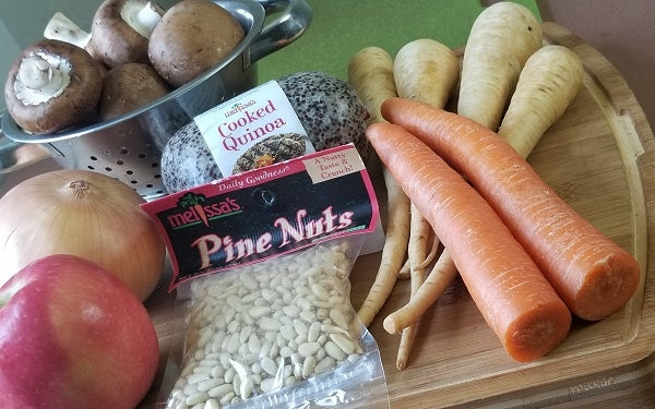 Breadless Stuffing with Quinoa Qubes