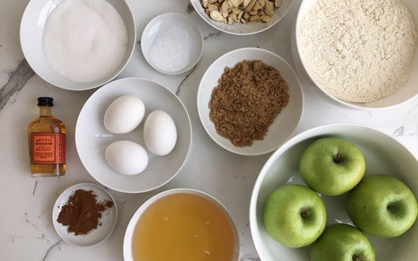 Ingredients for Apple Whiskey Cake