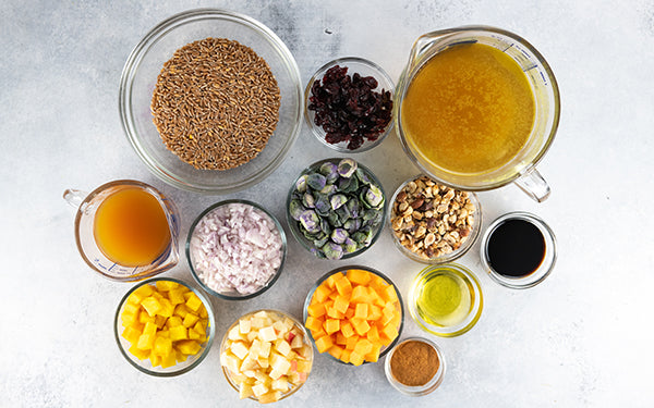 Ingredients for Fall Farro Risotto
