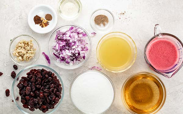 Ingredients for Cranberry Chutney