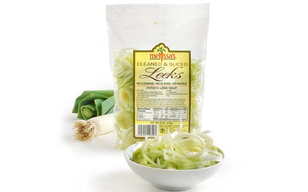 Image of Cleaned and Sliced Leeks