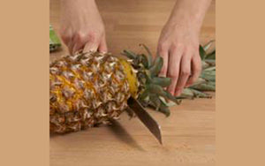 Pineapples, Peeling and Chopping Step 1