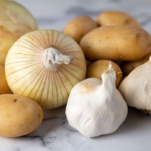 Image of  Garlic, Onions and Potatoes Vegetables