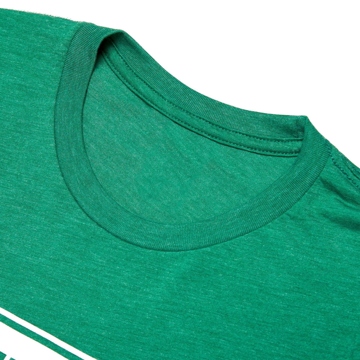 'Classic Oval' T-Shirt - Heather Grass Green
