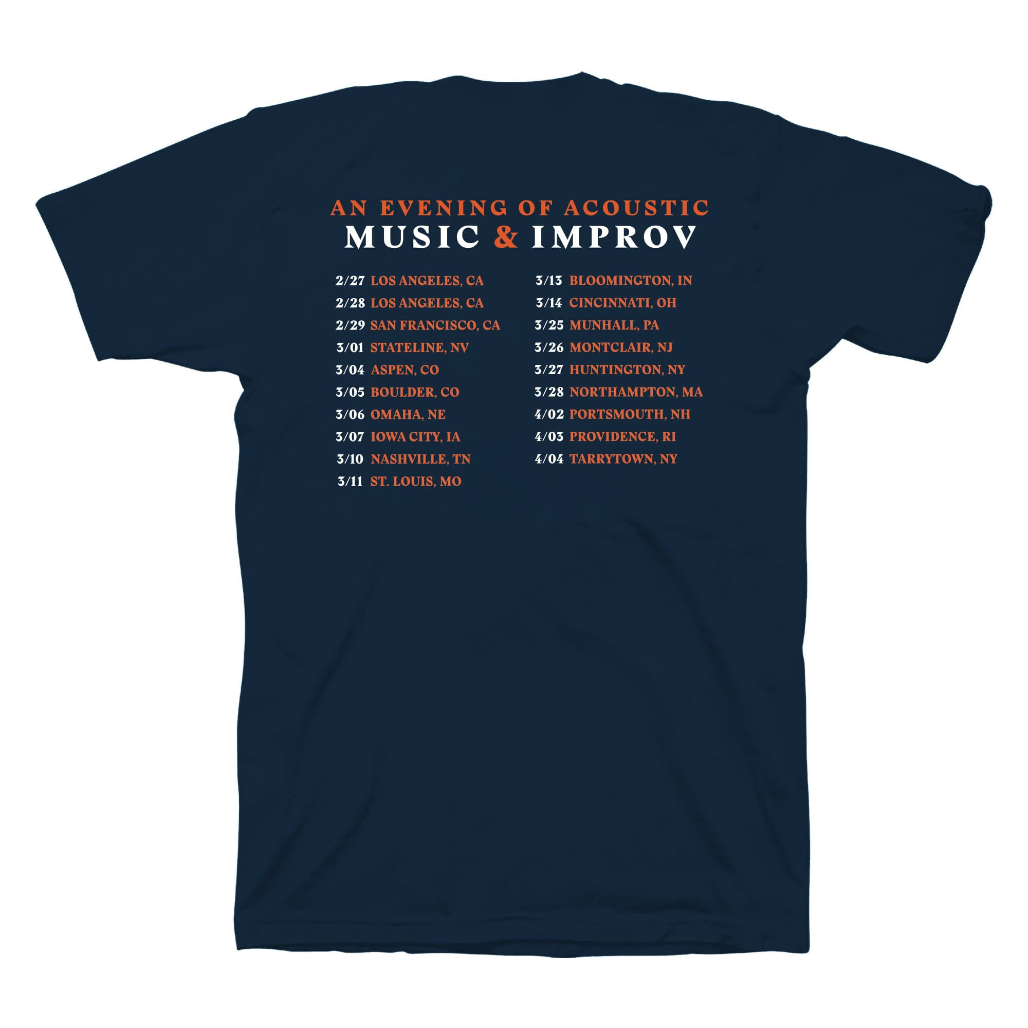 'Music & Improv' Acoustic Tour T-Shirt