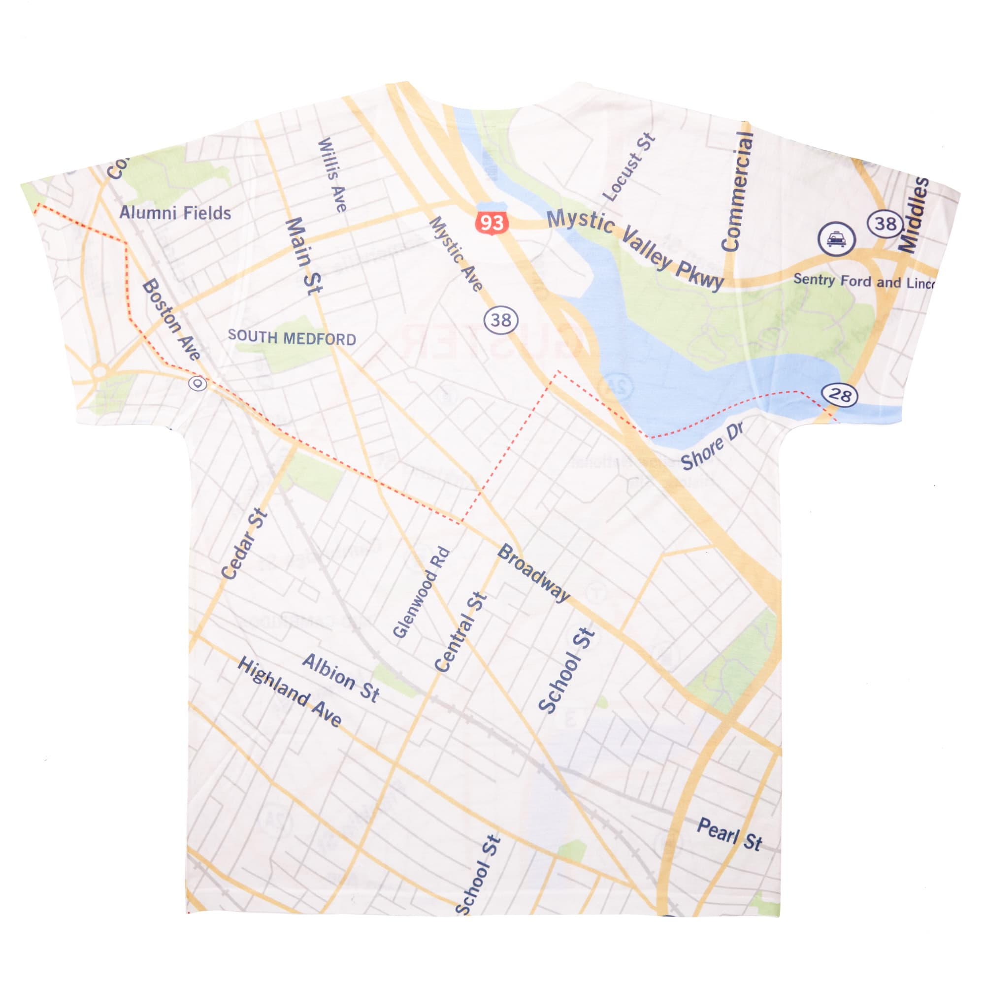 'Somerville Map' Dye Sub T-Shirt