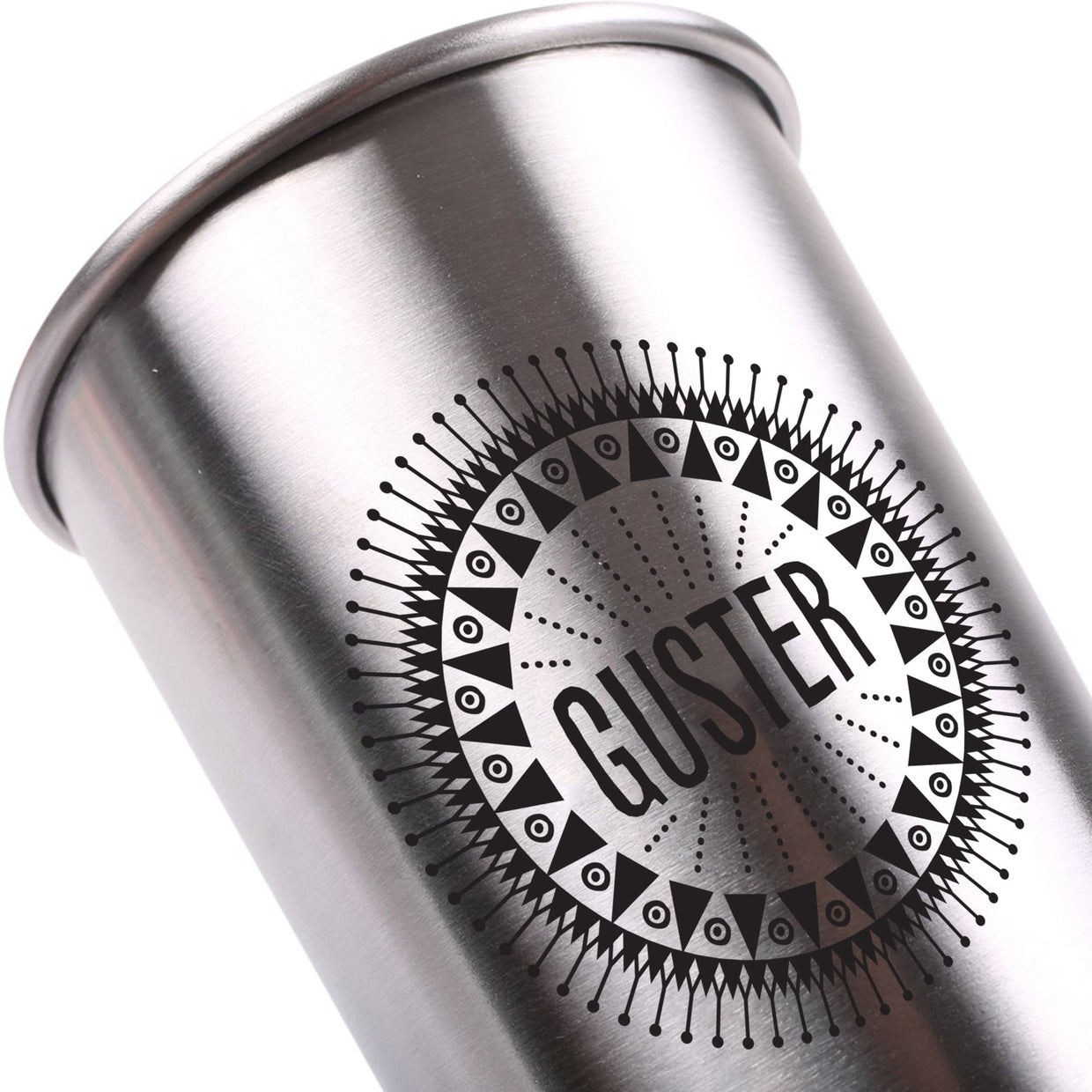 'Guster' Stainless Steel Pint Glass