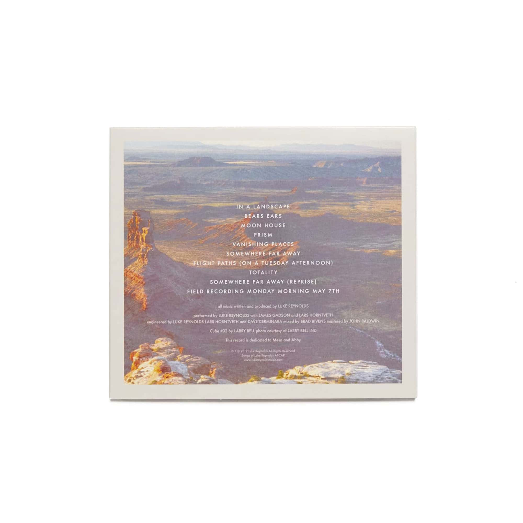 Luke Reynolds 'Vanishing Places Vol 1: Bears Ears' CD + MP3 Download - SIGNED