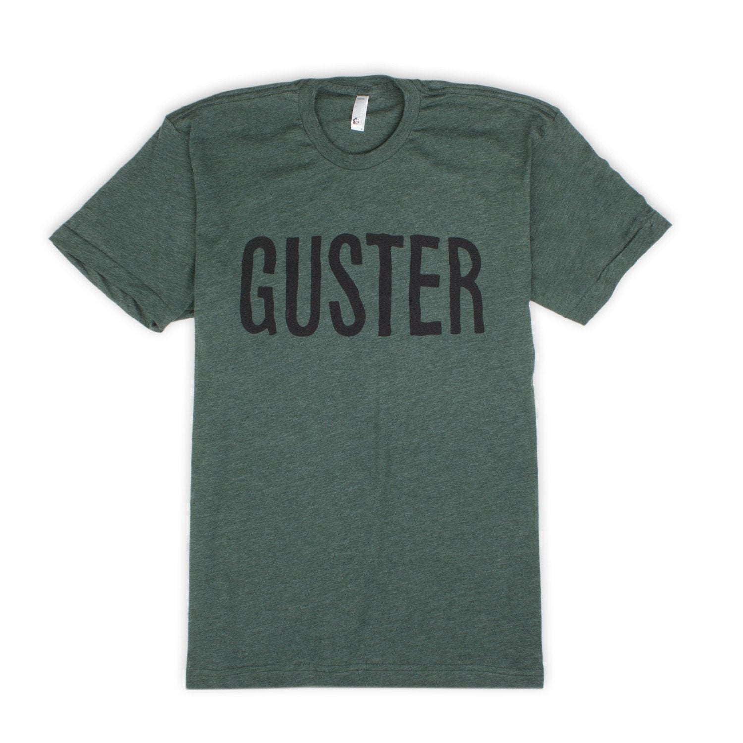 'Guster Text' T-Shirt - Heather Forest