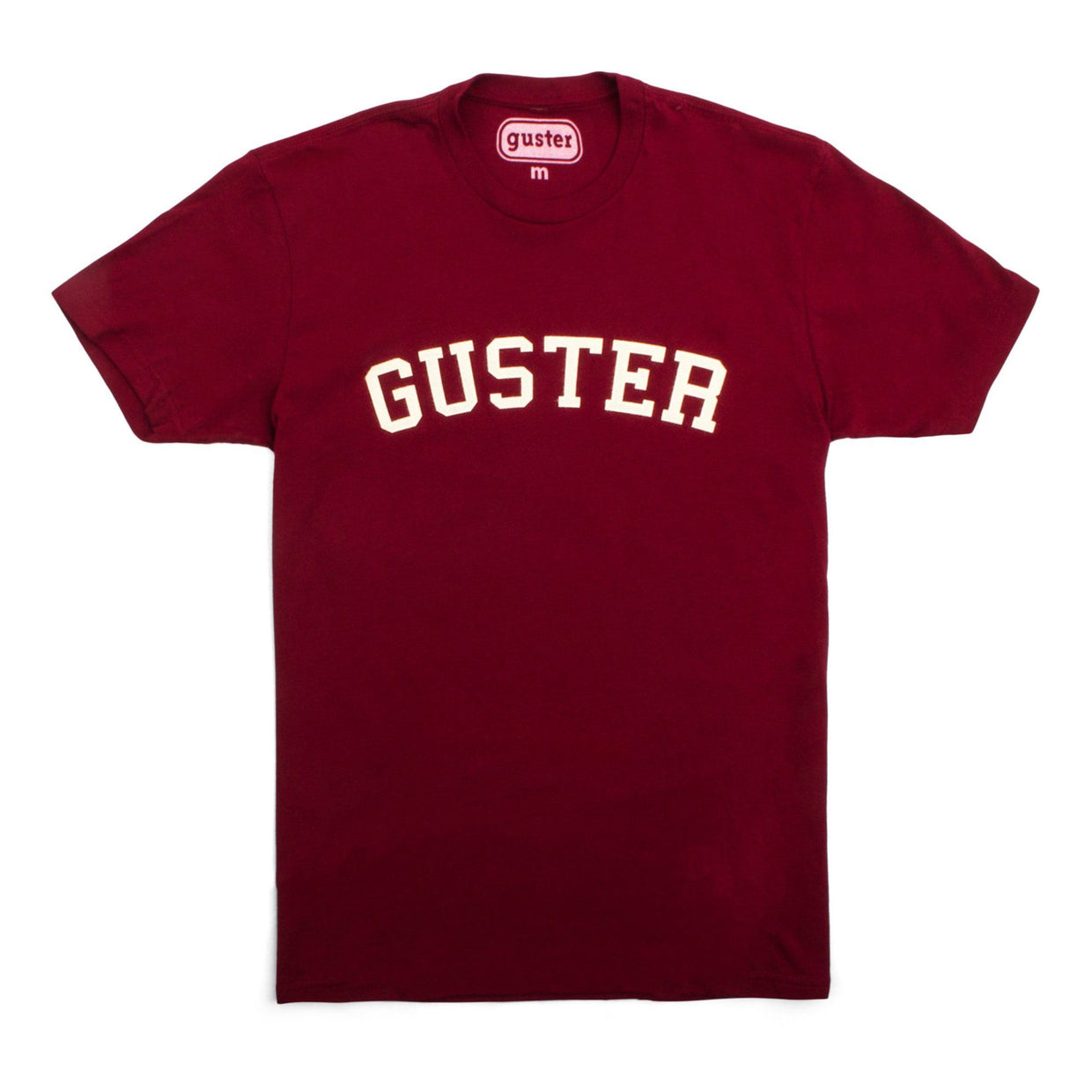 Guster Throwback Felt T-Shirt - Maroon