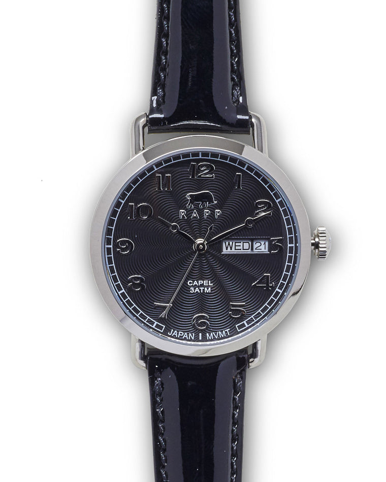 Lady Capel - Stainless Black Patent