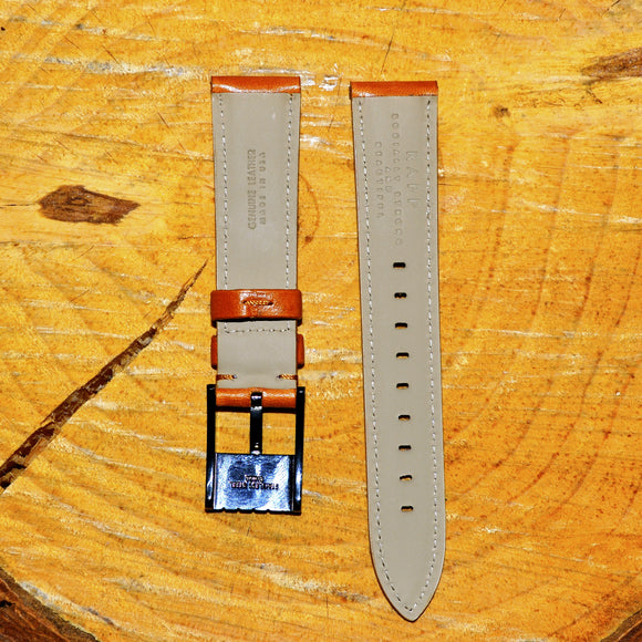 20mm - Standard Veg Oil Tan Leather Watch Strap