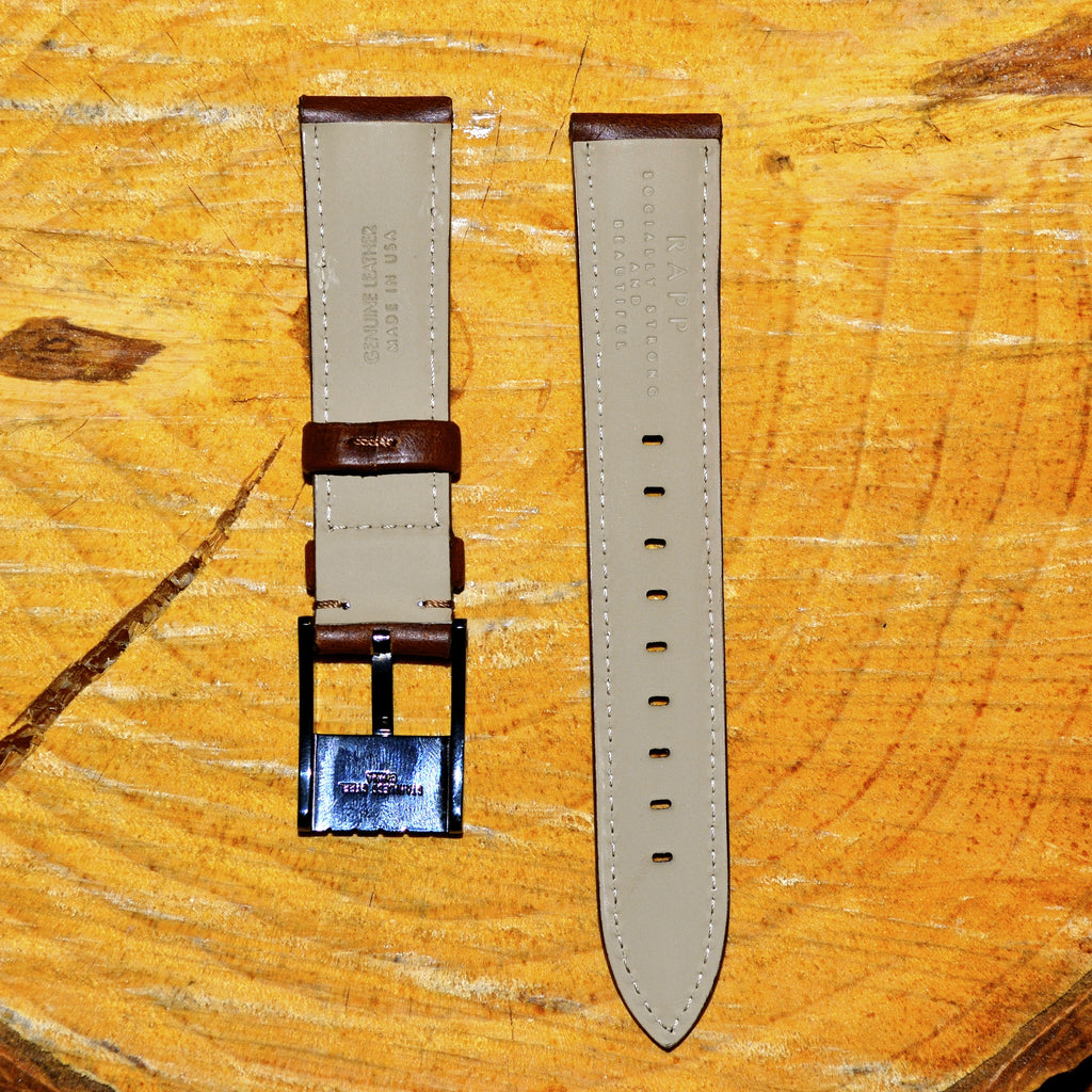 20mm - Standard Brown Leather Watch Strap