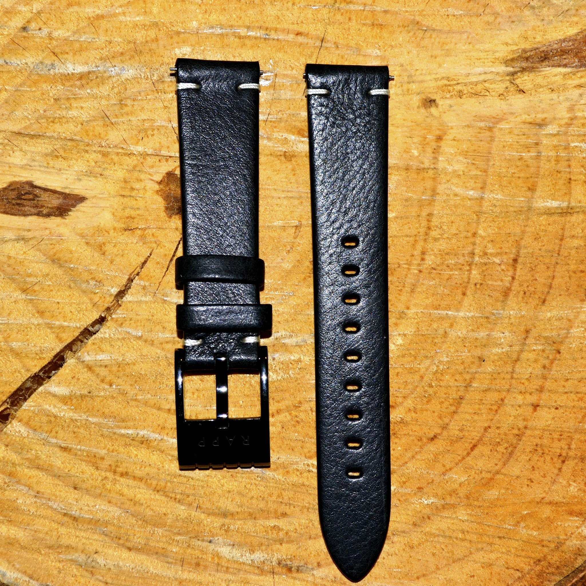 zapf watches breda gold black perforated leather products watch angle