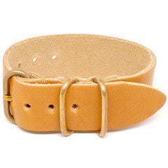 American Made NATO Leather Strap - Natural Essex