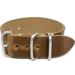 American Made Outdoor Leather Strap - Chromexcel Natural