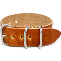 American Made NATO Leather Strap - Natural Dublin