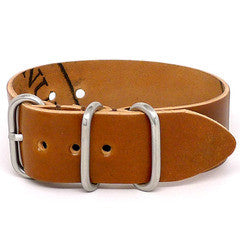 American Made Outdoor Leather Strap - Shell Cordovan Brandy