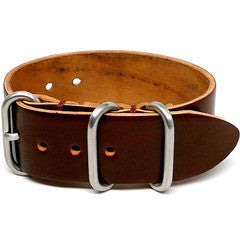 American Made Outdoor Leather Strap - Shell Cordovan Brown