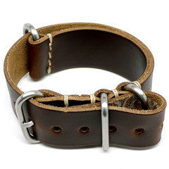 American Made Dual Outdoor Leather Strap - Chromexcel Dark Brown