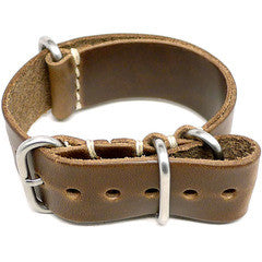 American Made Dual Outdoor Leather Strap - Chromexcel Natural