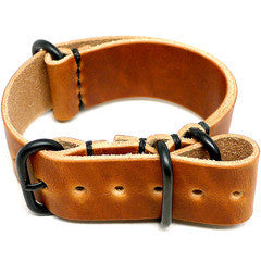 American Made Dual NATO Leather Strap - Natural Dublin