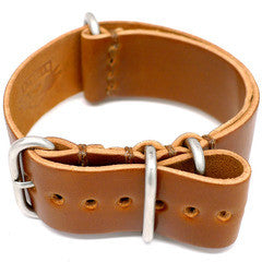 American Made Dual Outdoor Leather Strap - Shell Cordovan Brandy