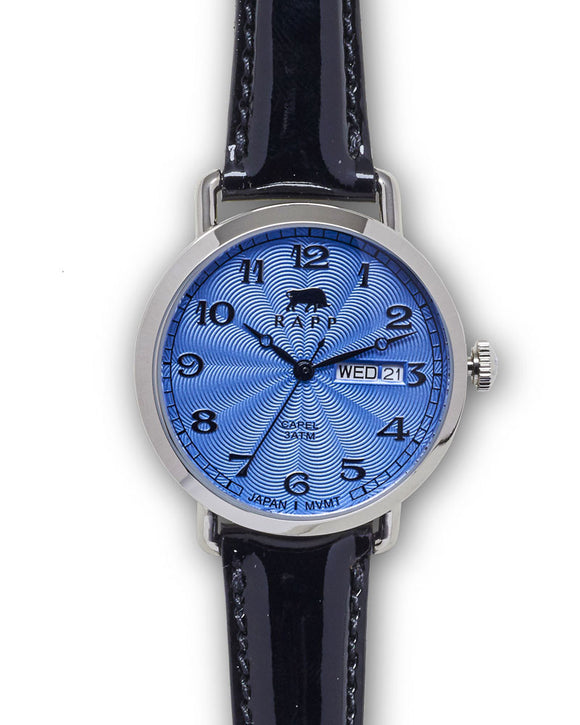 Lady Capel - Stainless Blue Patent