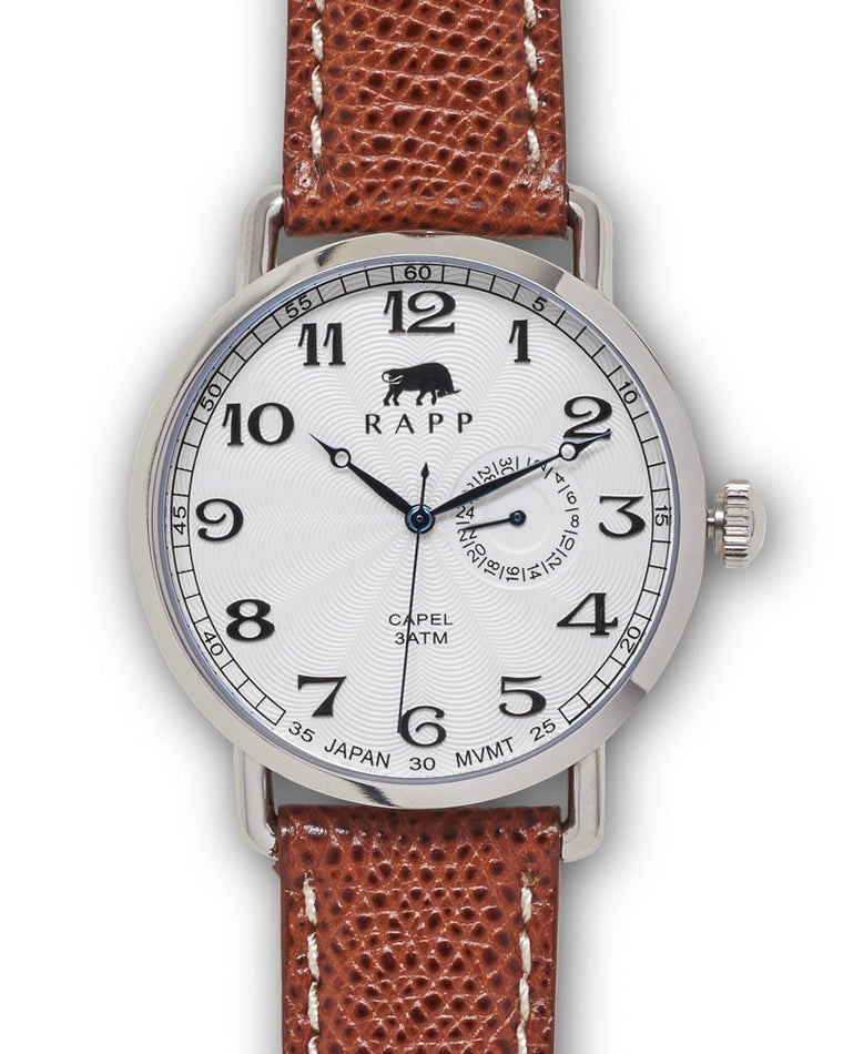 Capel - Stainless White Calfskin Strap