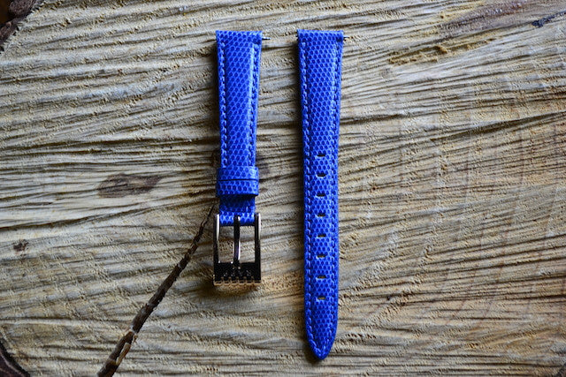 16mm - Java Liz CF53 Electric Blue Watch Strap
